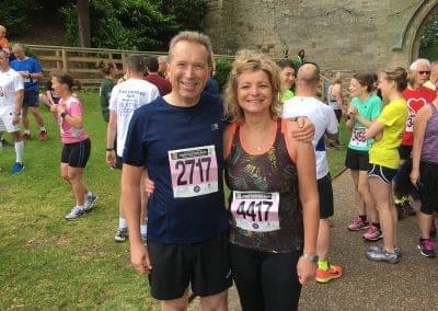 Simon Jackson and Jane Wakeling 2 Castles Run
